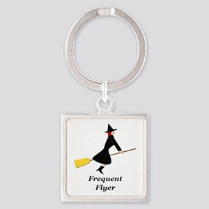 Frequent Flyer Square Keychain
