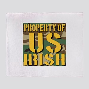 Property of US Irish Throw Blanket