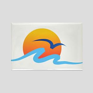 Wave - Summer - Travel Rectangle Magnet