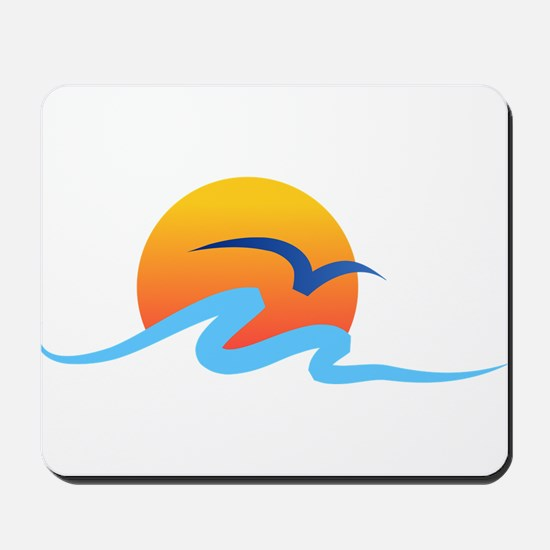 Wave - Summer - Travel Mousepad
