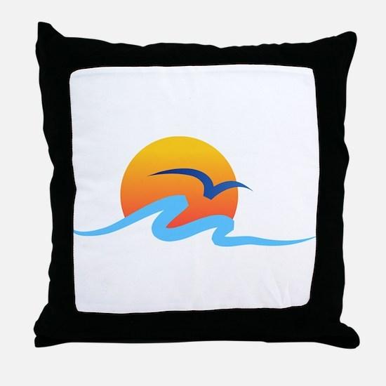 Wave - Summer - Travel Throw Pillow