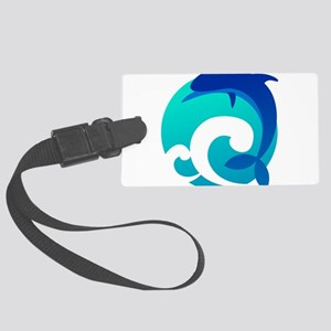 Wave - Summer - Dolphin Luggage Tag