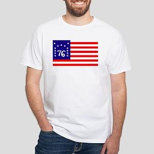 Bennington Flag 1776 White T-Shirt