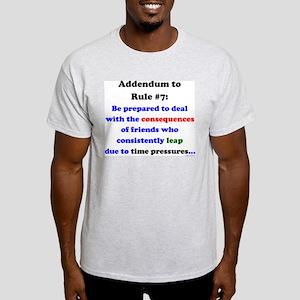 Rule 7 Addendum Light T-Shirt