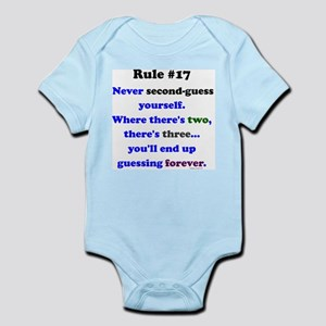 Rule 17 - No Second Guessing Infant Bodysuit