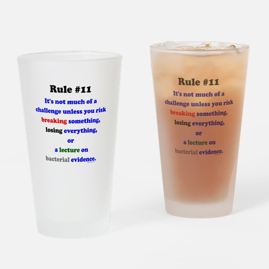 Break, Lose, Evidence Lecture Drinking Glass