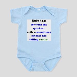 Rule 33 - Catch Falling Cactus Infant Bodysuit