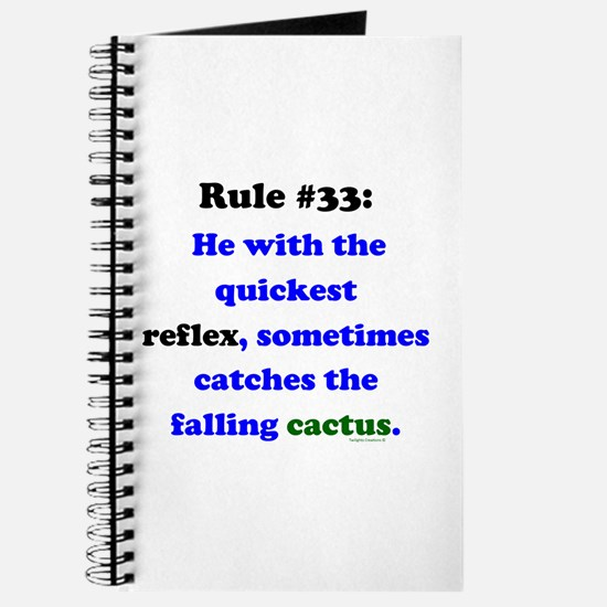 Rule 33 - Catch Falling Cactus Journal