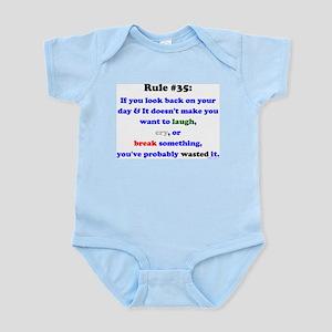 Rule 35 Laugh, Cry, Break Something Infant Bodysui