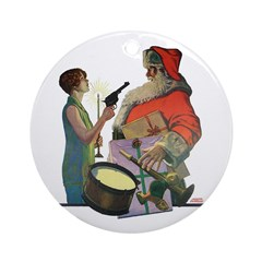 Santa Got Held Up By a Flappe Ornament (Round)