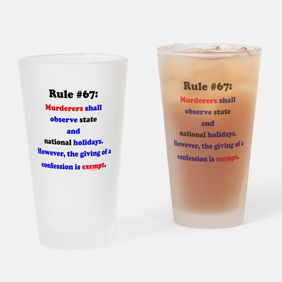 Rule 67 - National Holidays, Confession Exempt Dri
