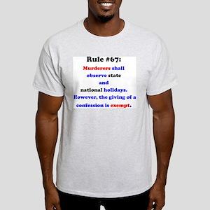 Rule 67 - National Holidays, Confession Exempt Lig