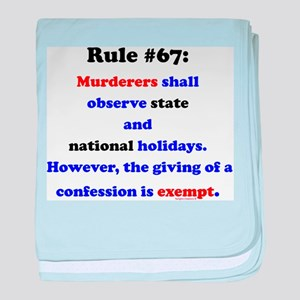 Rule 67 - National Holidays, Confession Exempt bab