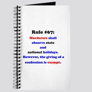 Rule 67 - National Holidays, Confession Exempt Jou