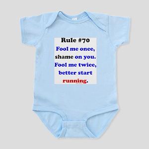 Rule 70 - Better Start Running Infant Bodysuit