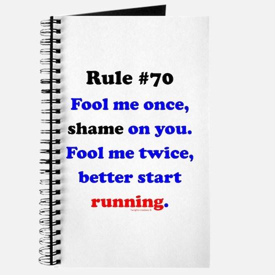 Rule 70 - Better Start Running Journal