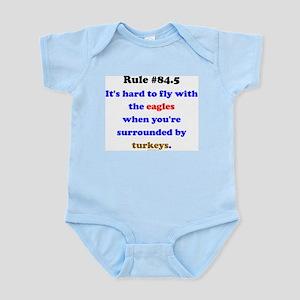Rule 84.5 Surrounded by Turkeys Infant Bodysuit