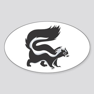 Skunk Oval Sticker