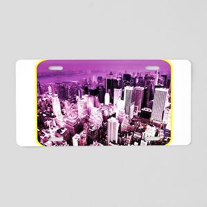 City - Metro - Downtown Aluminum License Plate