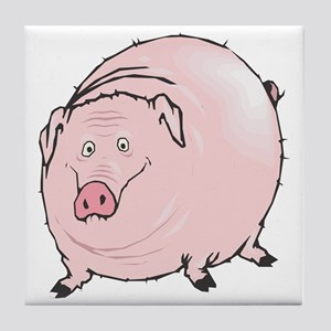 Silly Pot Belly Pig Tile Coaster