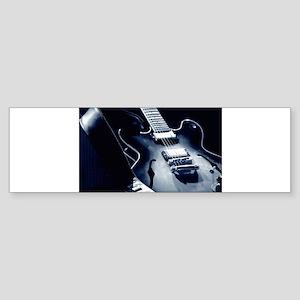 Vintage Guitar - Blue Tone Bumper Sticker