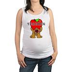 Teachers Apple Bear Maternity Tank Top