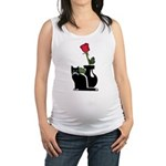 cat and rose redone Maternity Tank Top