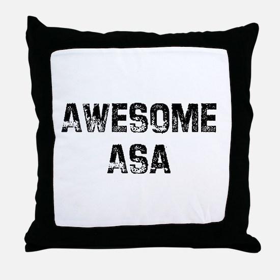 Awesome Asa Throw Pillow