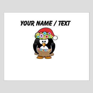 Custom Hawaiian Christmas Penguin Poster Design