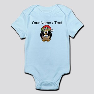 Custom Hawaiian Christmas Penguin Body Suit