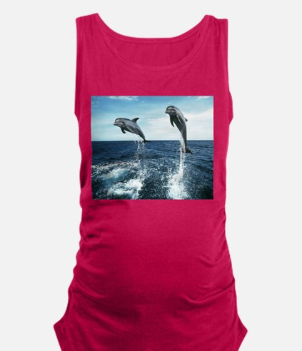 Dolphins In The Ocean Maternity Tank Top