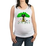 love is green Maternity Tank Top