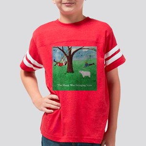 Izzie29-SwingingSheepSquare Youth Football Shirt