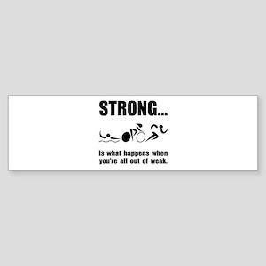 Triathlon Strong Bumper Sticker