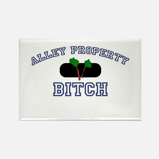Alley Property Bitch Rectangle Magnet