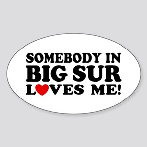 Somebody In Big Sur Loves Me Sticker (Oval)