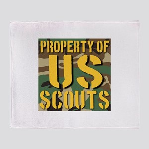 Property of US Scouts Throw Blanket