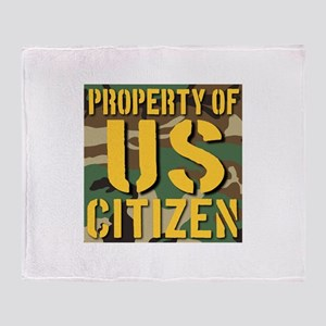 Property of US Citizen Throw Blanket