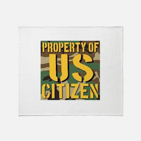 Property of US Citizen Throw Blanket
