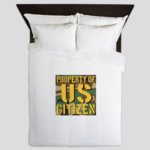 Property of US Citizen Queen Duvet