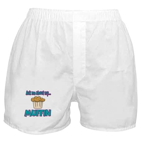 Funny Ask Me About My Muffin Design Boxer Shorts