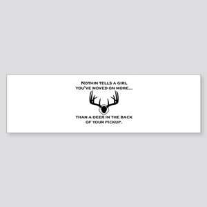 Deer in the back of your pickup Bumper Sticker