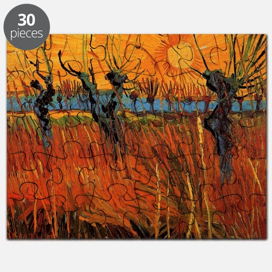 Van Gogh Willows at Sunset Puzzle