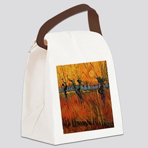 Van Gogh Willows at Sunset Canvas Lunch Bag