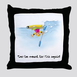 Kayak Capers 12 Throw Pillow