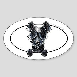 Skye Terrier Peeking Sticker
