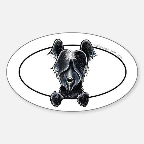 Skye Terrier Peeking Decal