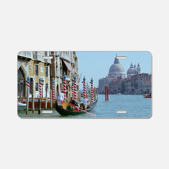 The Grande Canal in Italy V Aluminum License Plate