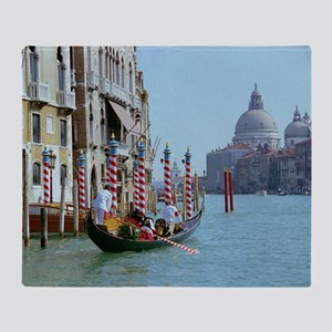 The Grande Canal in Italy Venice Throw Blanket