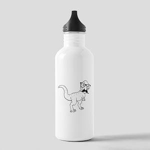 Hipster T-rex Water Bottle